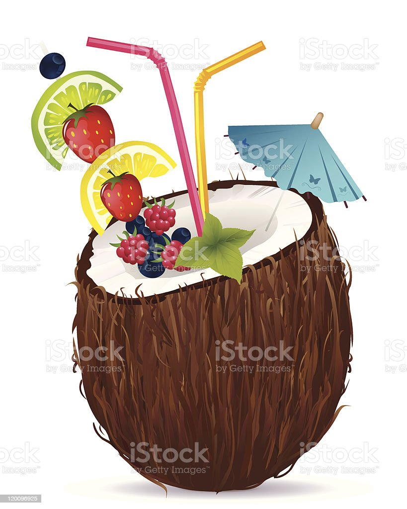 Tropical drink royalty-free stock vector art