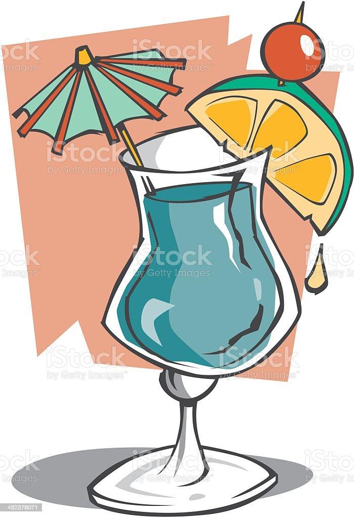 Tropical Drink vector art illustration