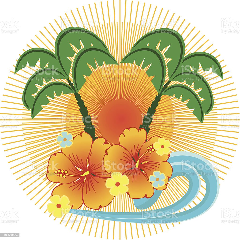 Tropical emblem . royalty-free stock vector art