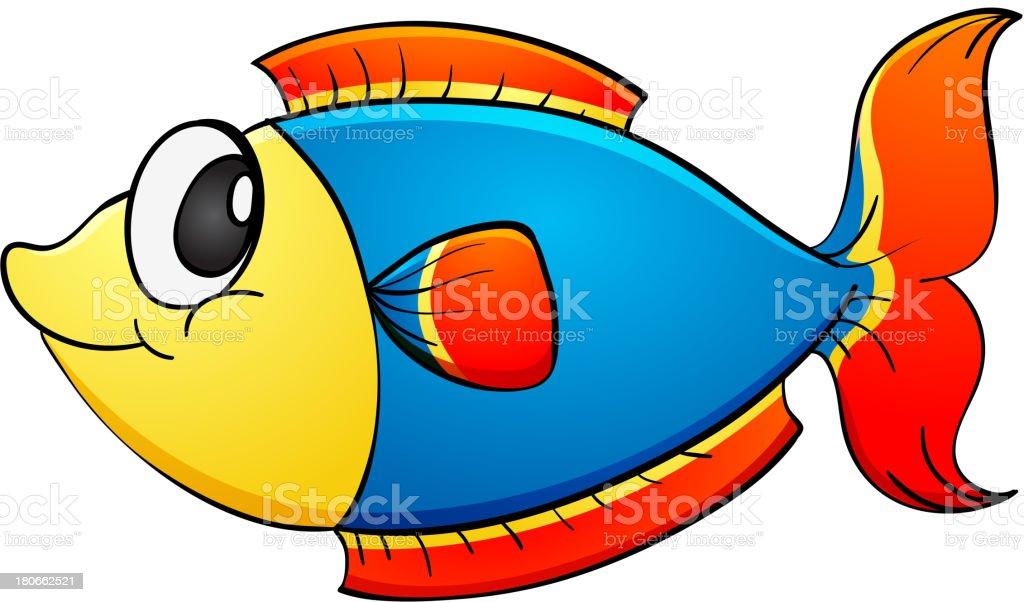tropical fish on white vector art illustration