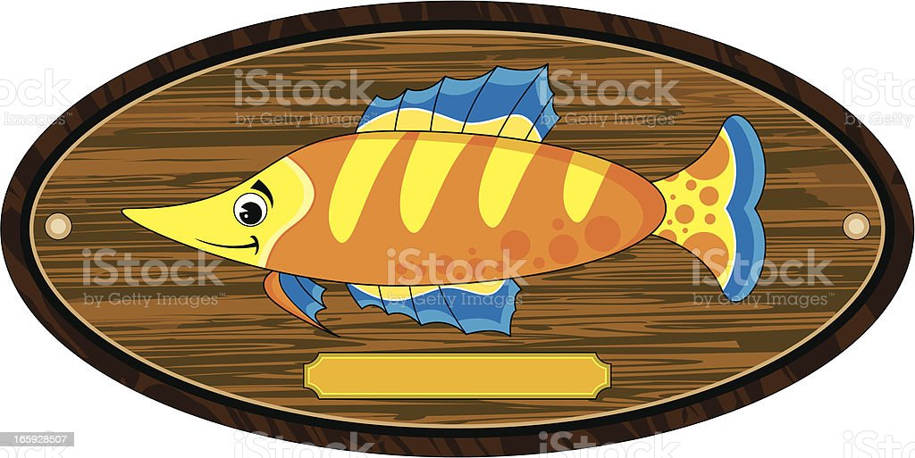 Tropical Fish Trophy Mount royalty-free stock vector art