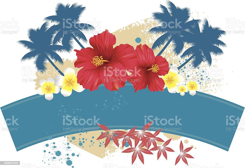 Tropical Floral Scene vector art illustration