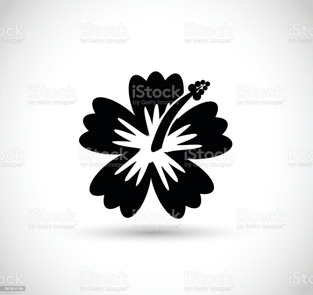 Tropical flower icon illustration vector art illustration