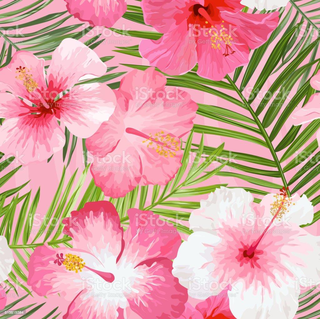 Flores tropicales y hojas de fondo vintage patr n sin - Flores tropicales fotos ...