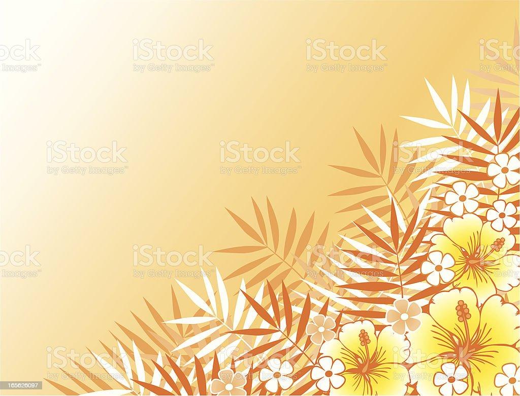 Tropical frame royalty-free stock vector art