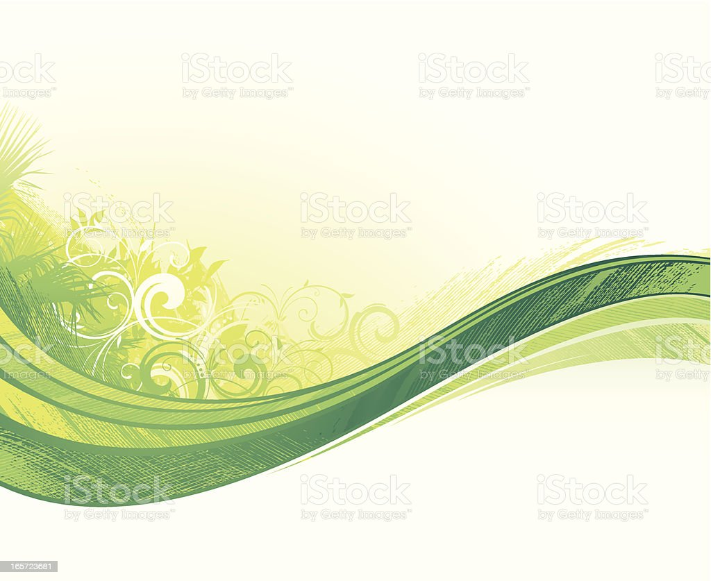 Tropical green flow background royalty-free stock vector art
