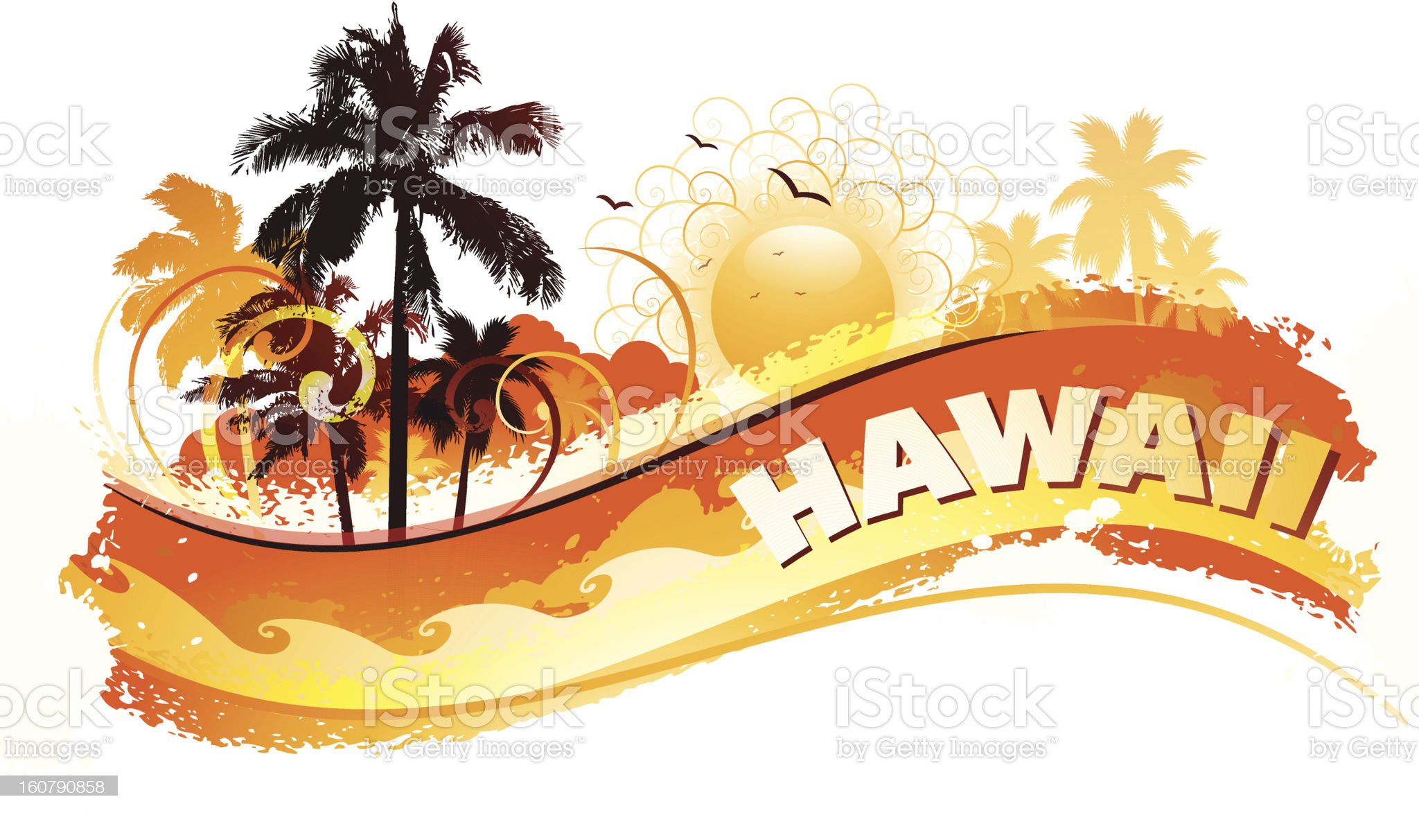 Tropical hawaii background royalty-free stock vector art