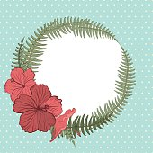 Tropical Hibiscus Floral Frame