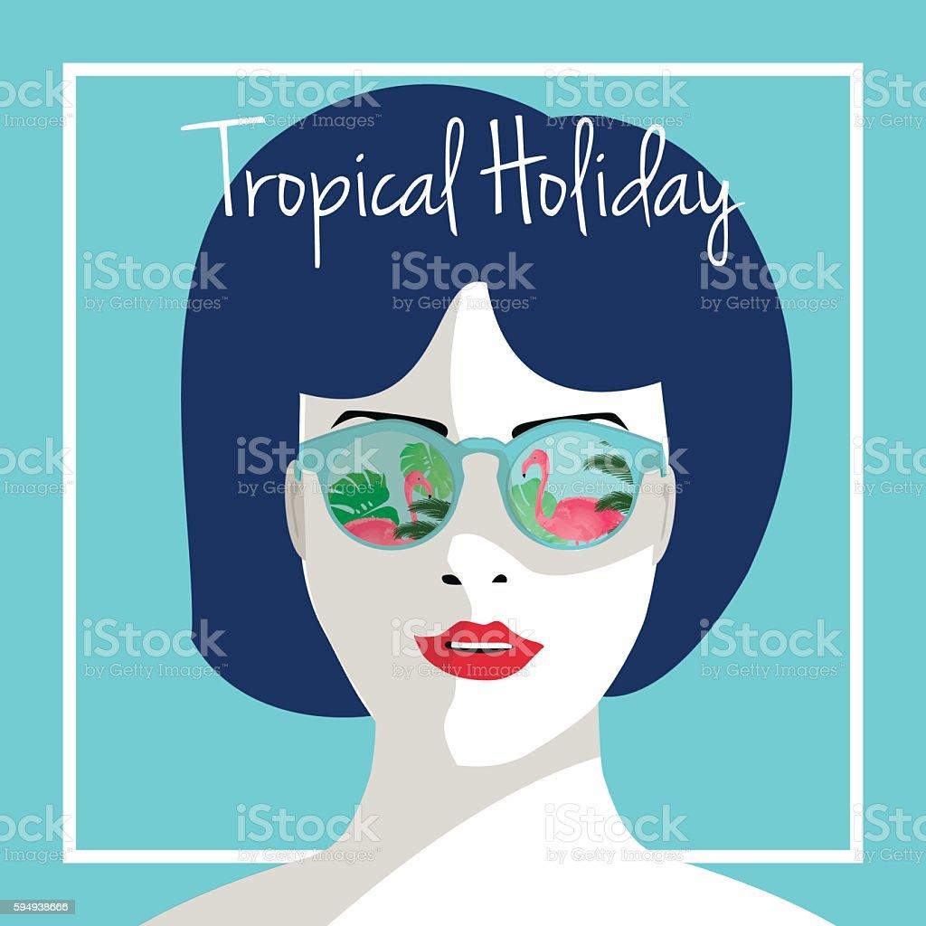 Tropical holiday vector illustration. royalty-free 일러스트