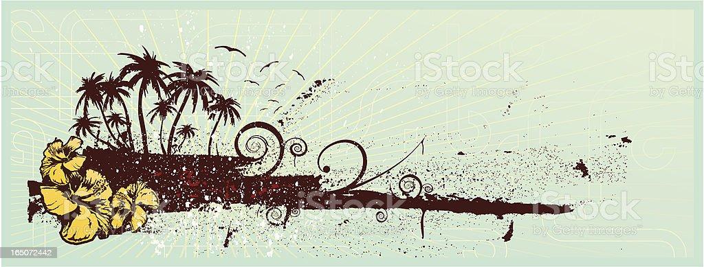 tropical horizon royalty-free stock vector art