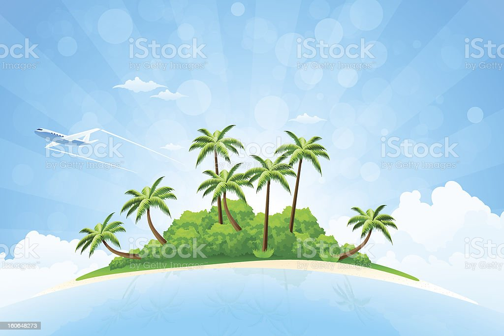 Tropical Island Background royalty-free stock vector art