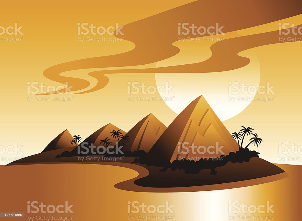 Tropical Island Illustration vector art illustration