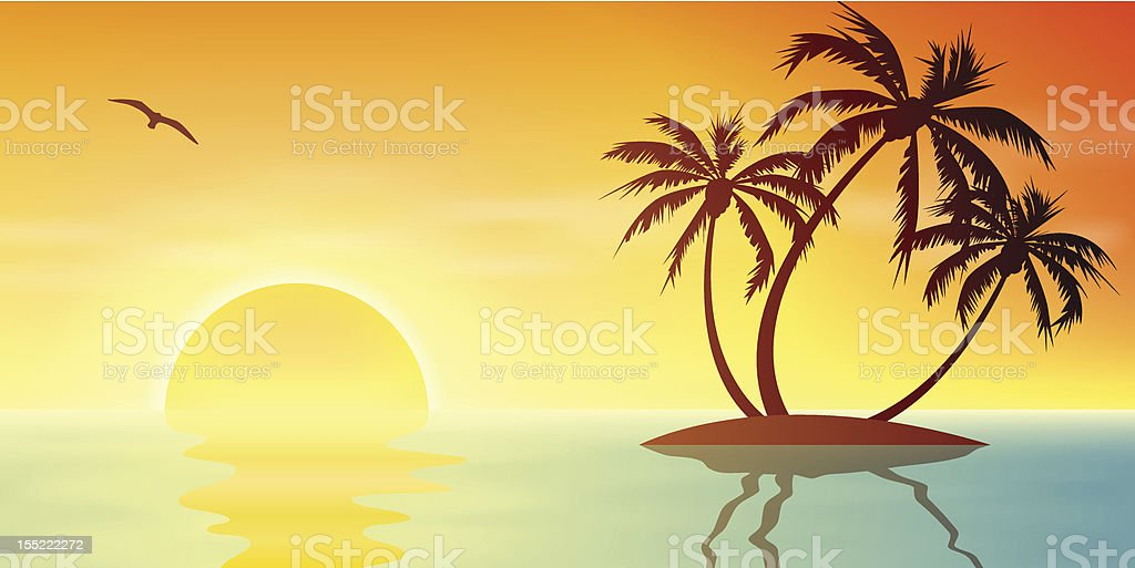 Tropical Island royalty-free stock vector art