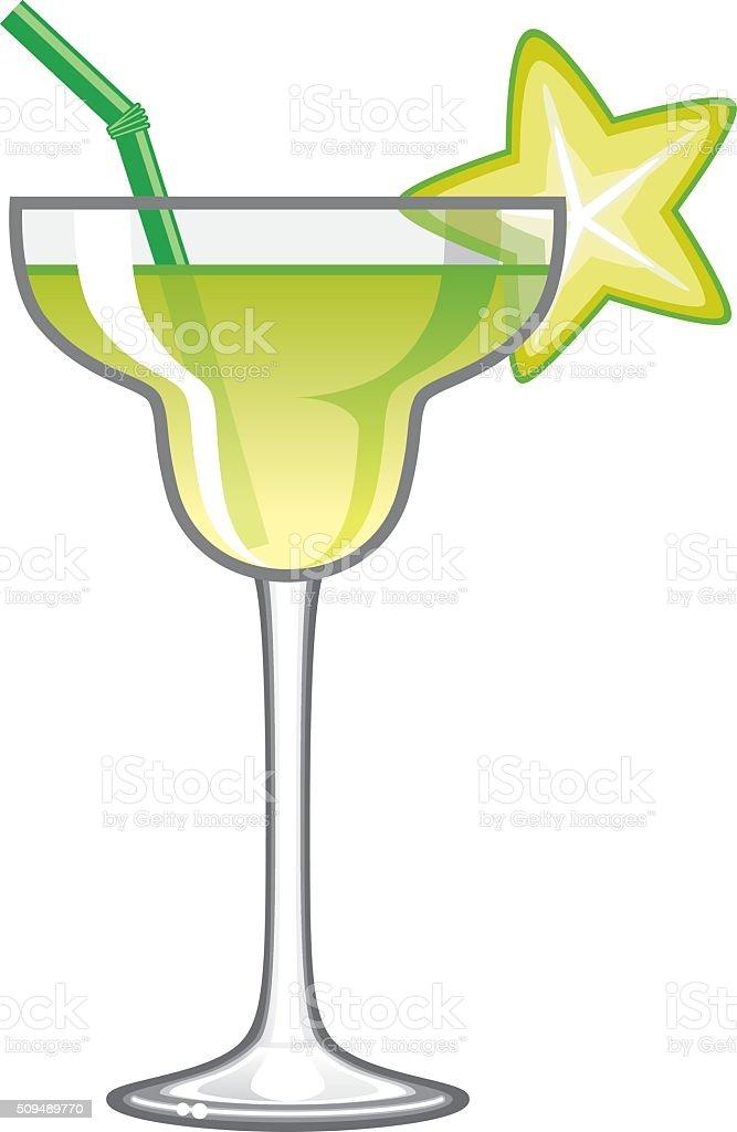 Tropical Lime Margarita Cocktail Icon vector art illustration