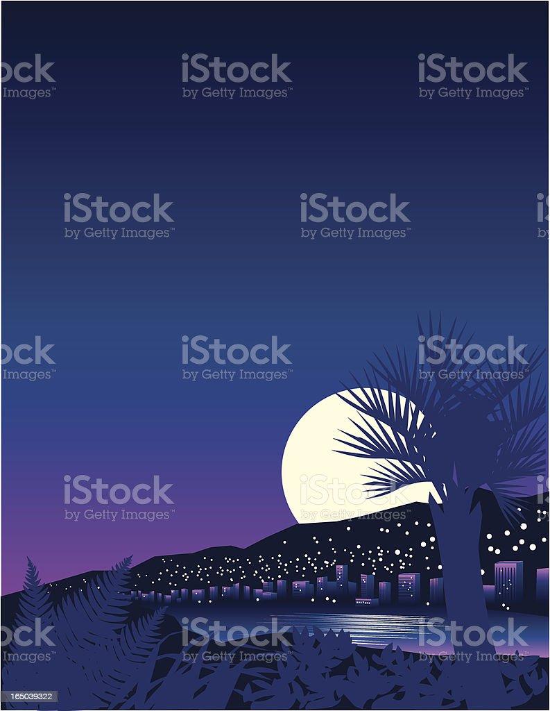 Tropical Moon royalty-free stock vector art