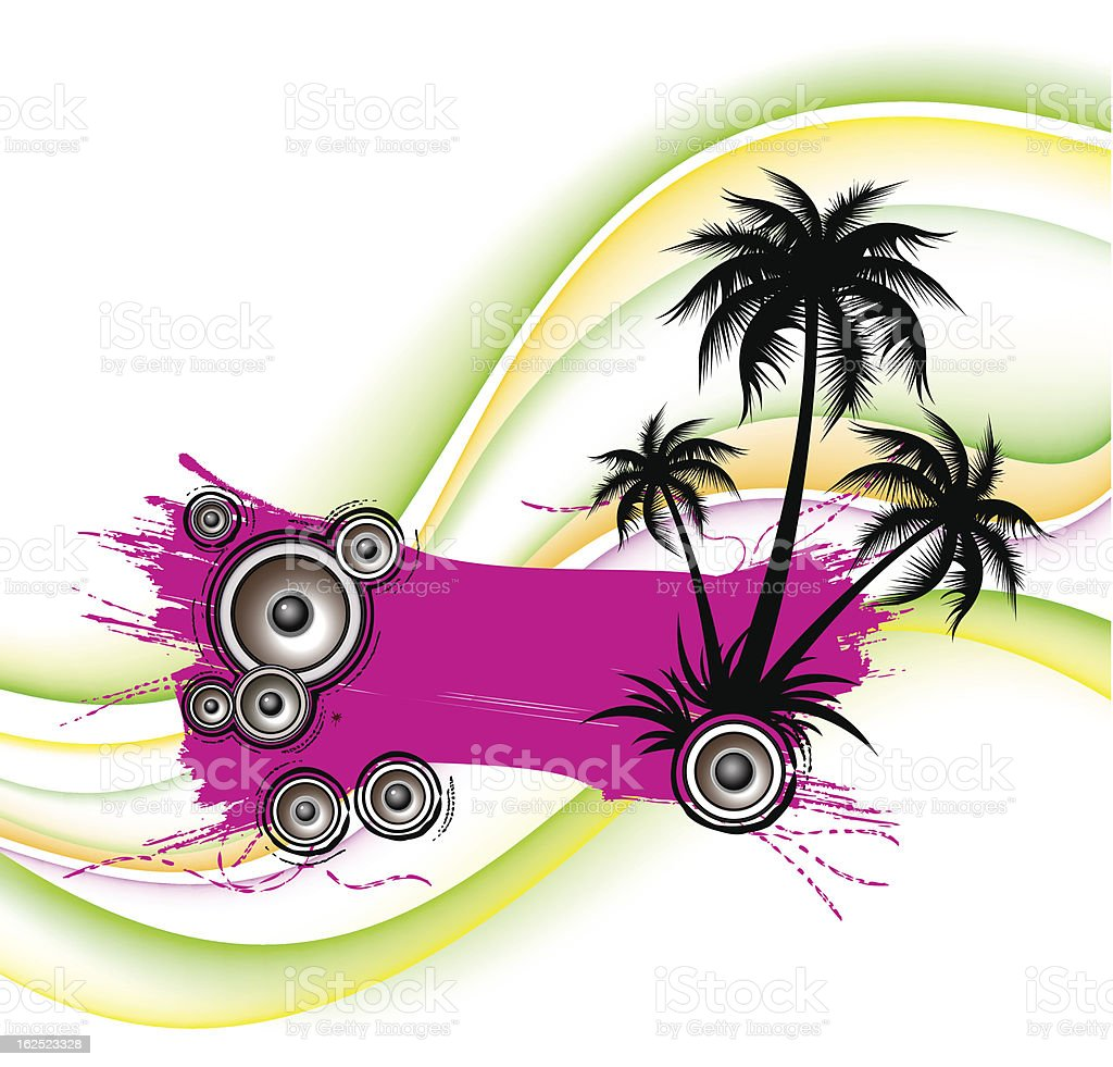 Tropical music banner royalty-free stock vector art