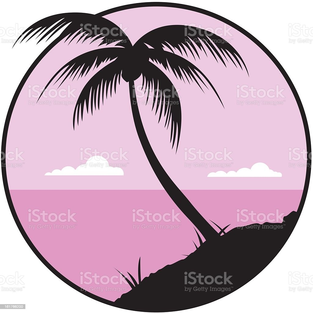 Tropical Palm Tree royalty-free stock vector art