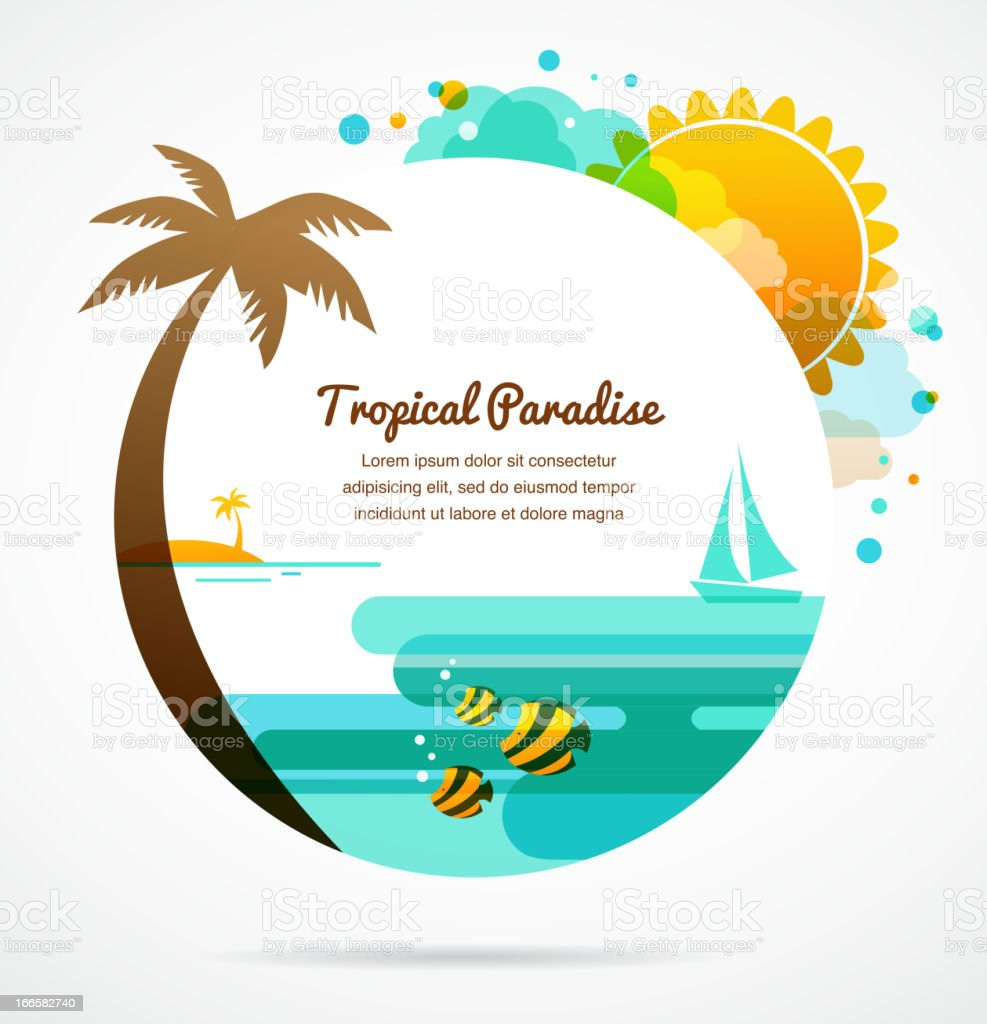tropical paradise royalty-free stock vector art