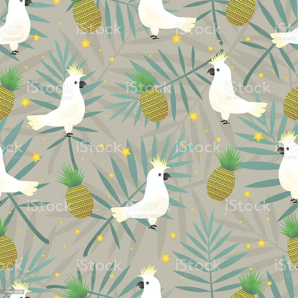 Tropical parrot pattern royalty-free stock vector art