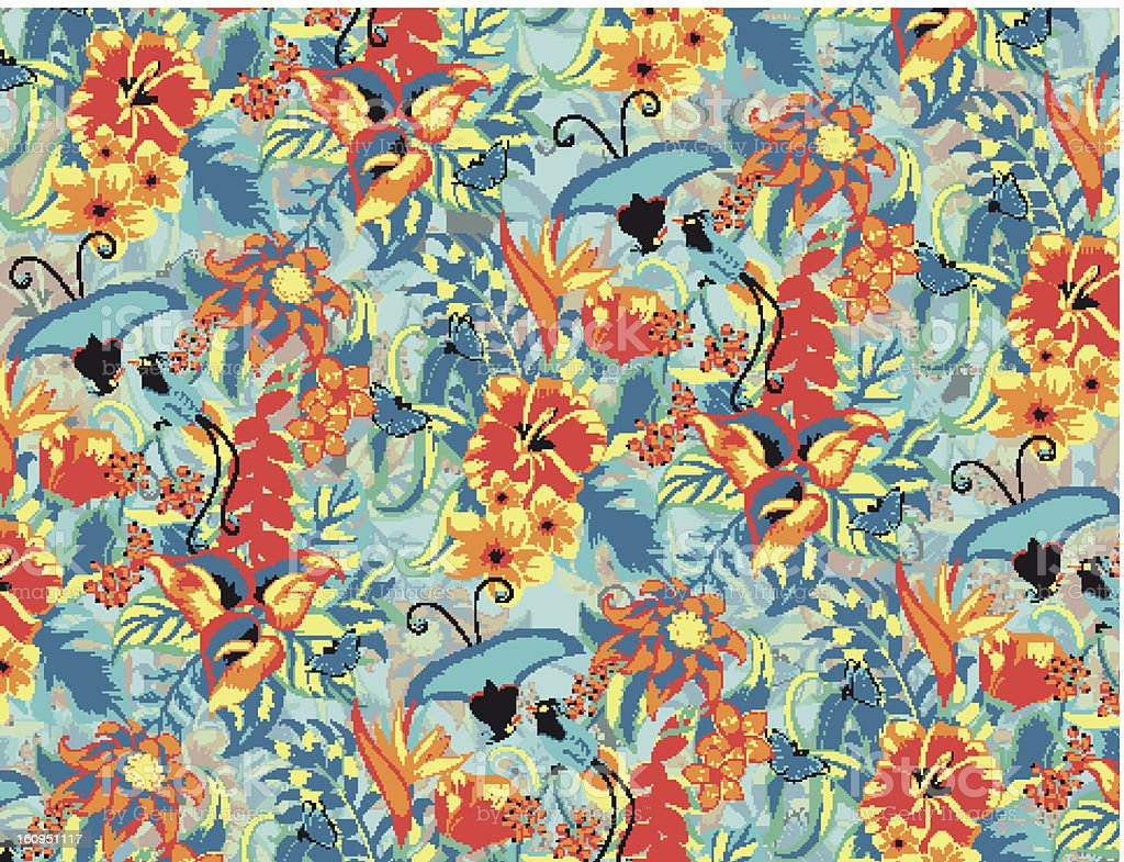 Tropical pattern royalty-free stock vector art