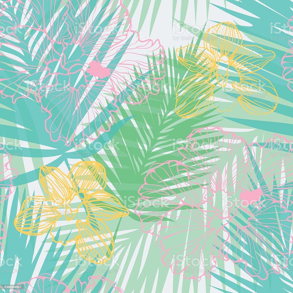 tropical pattern vector art illustration