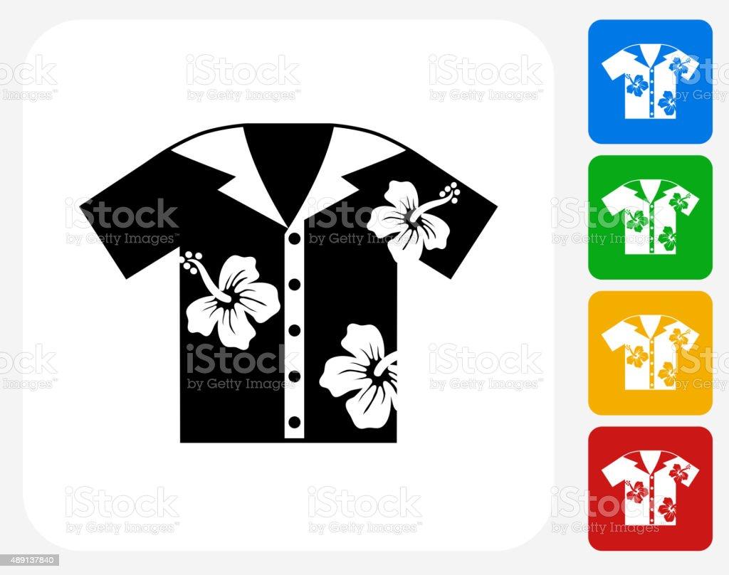 Tropical Shirt Icon Flat Graphic Design vector art illustration