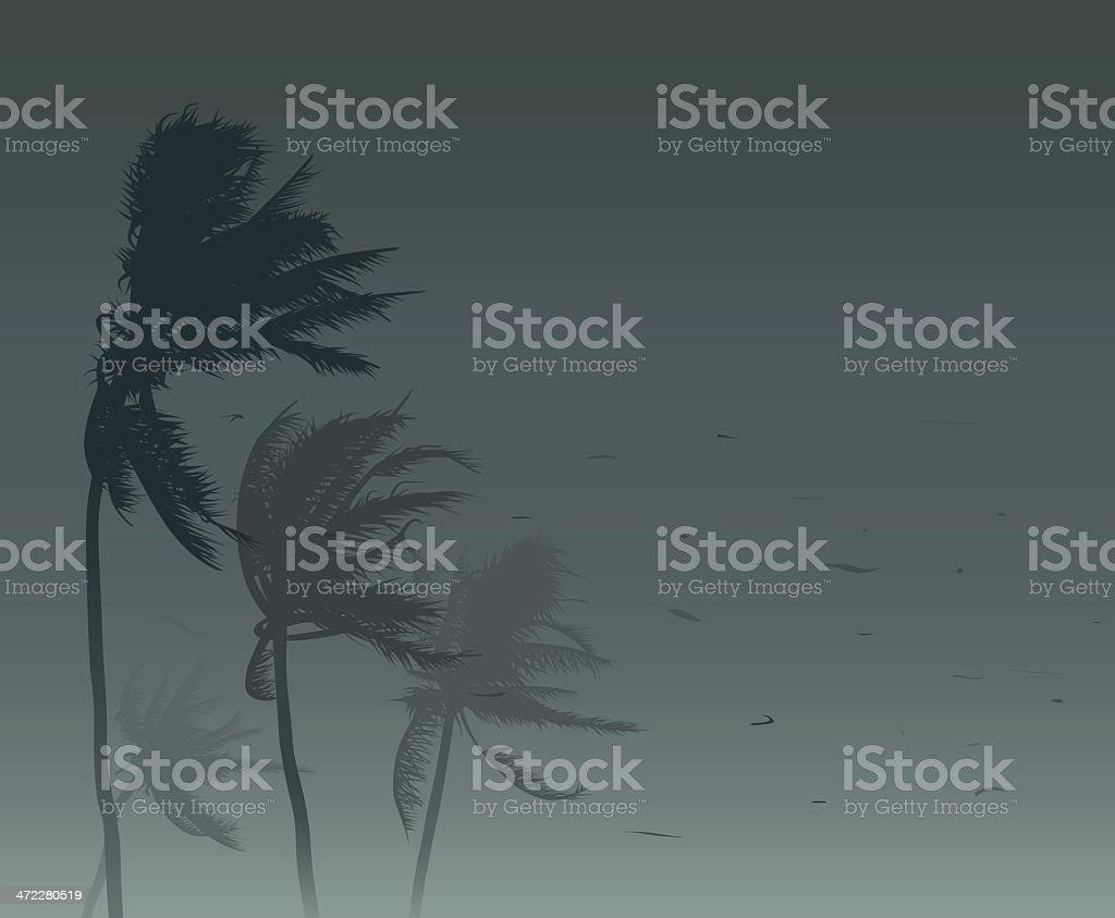 Tropical storm vector art illustration