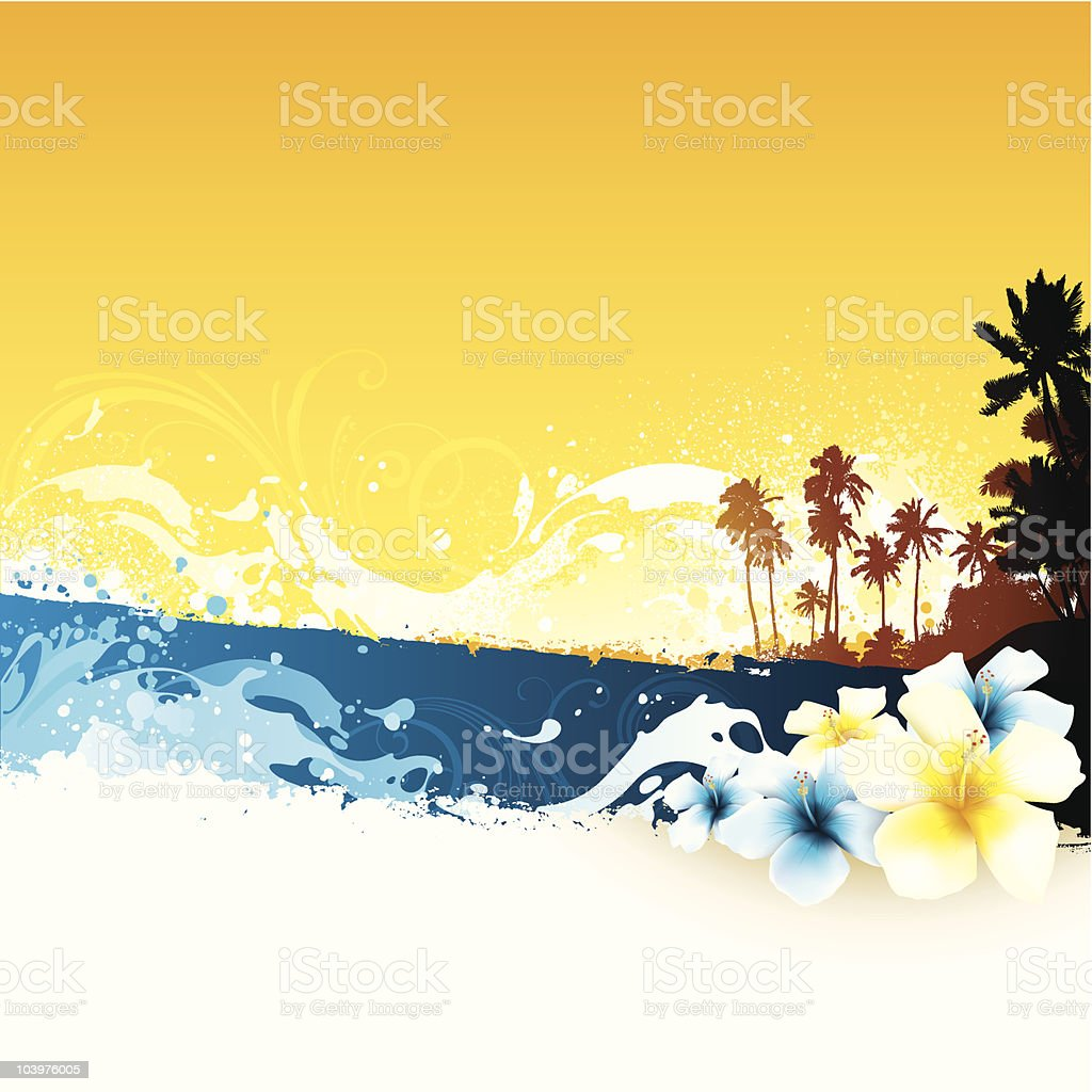 Tropical summer background royalty-free stock vector art