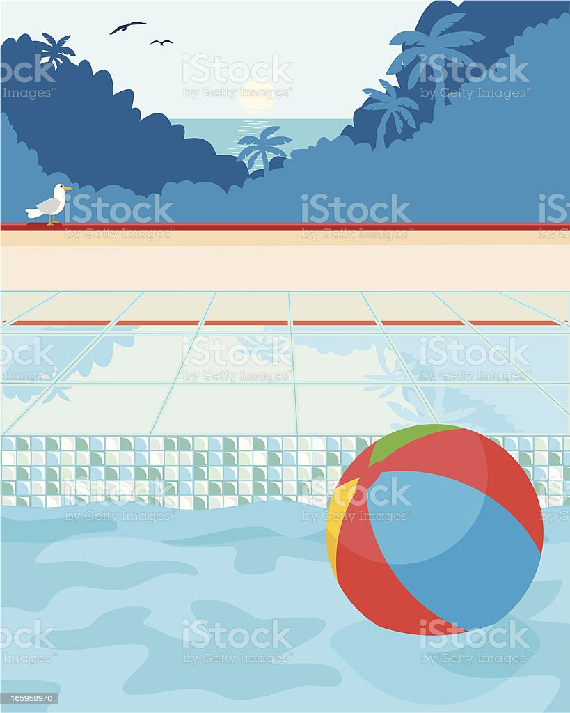 Tropical Vacation Background vector art illustration