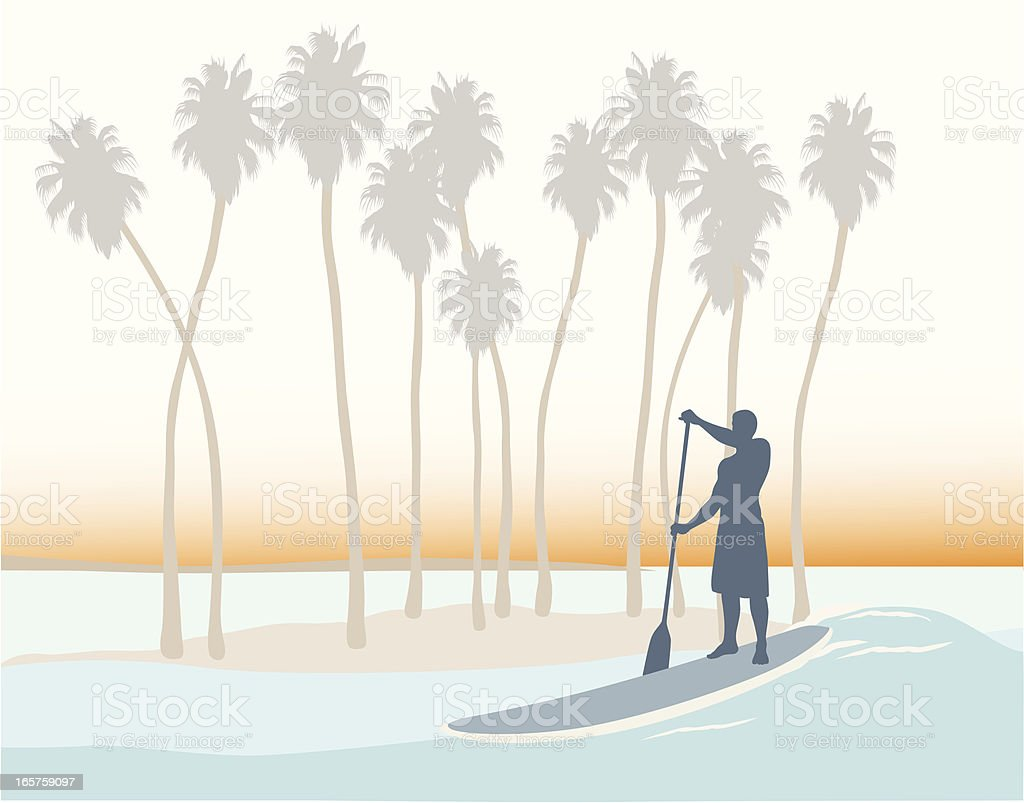 Tropical Vector Silhouette royalty-free stock vector art