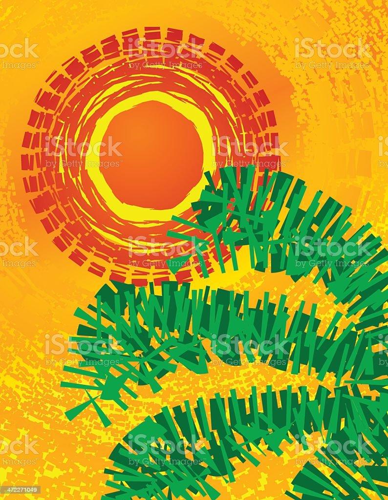 Tropics - Vector Mosaic vector art illustration