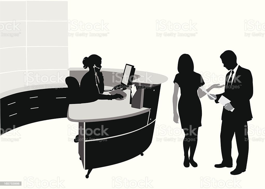 Troubling Biz Vector Silhouette royalty-free stock vector art