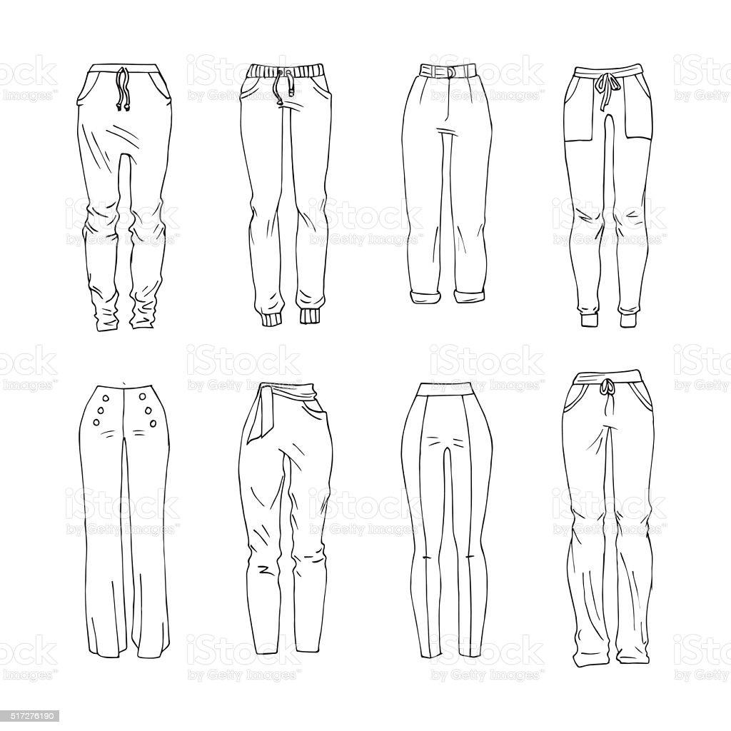 Trousers vector art illustration