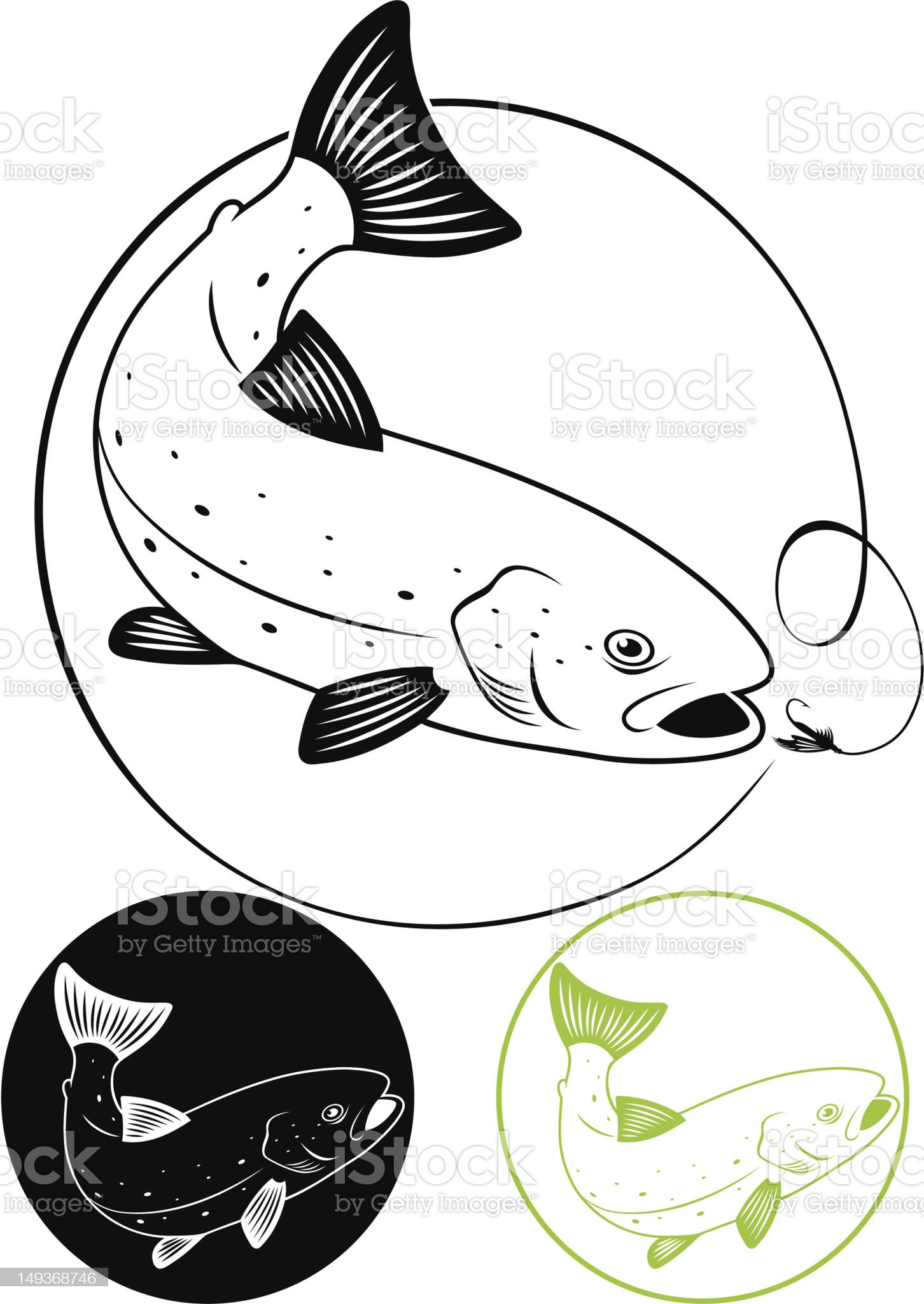trout fish royalty-free stock vector art