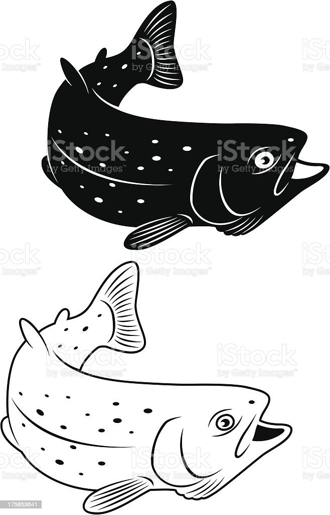 trout royalty-free stock vector art