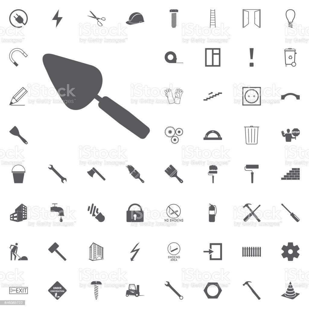 Trowel Icon Vector. Construction set vector art illustration