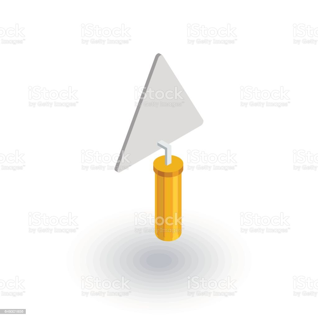 trowel tool isometric flat icon. 3d vector vector art illustration