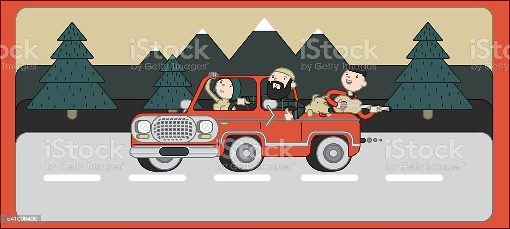 truck and wood royalty-free stock vector art