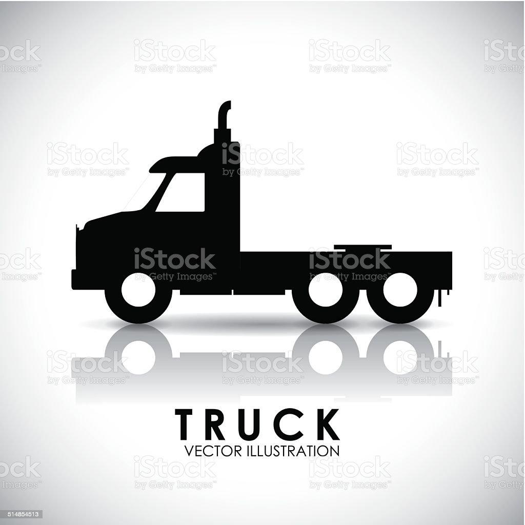 truck deign vector art illustration