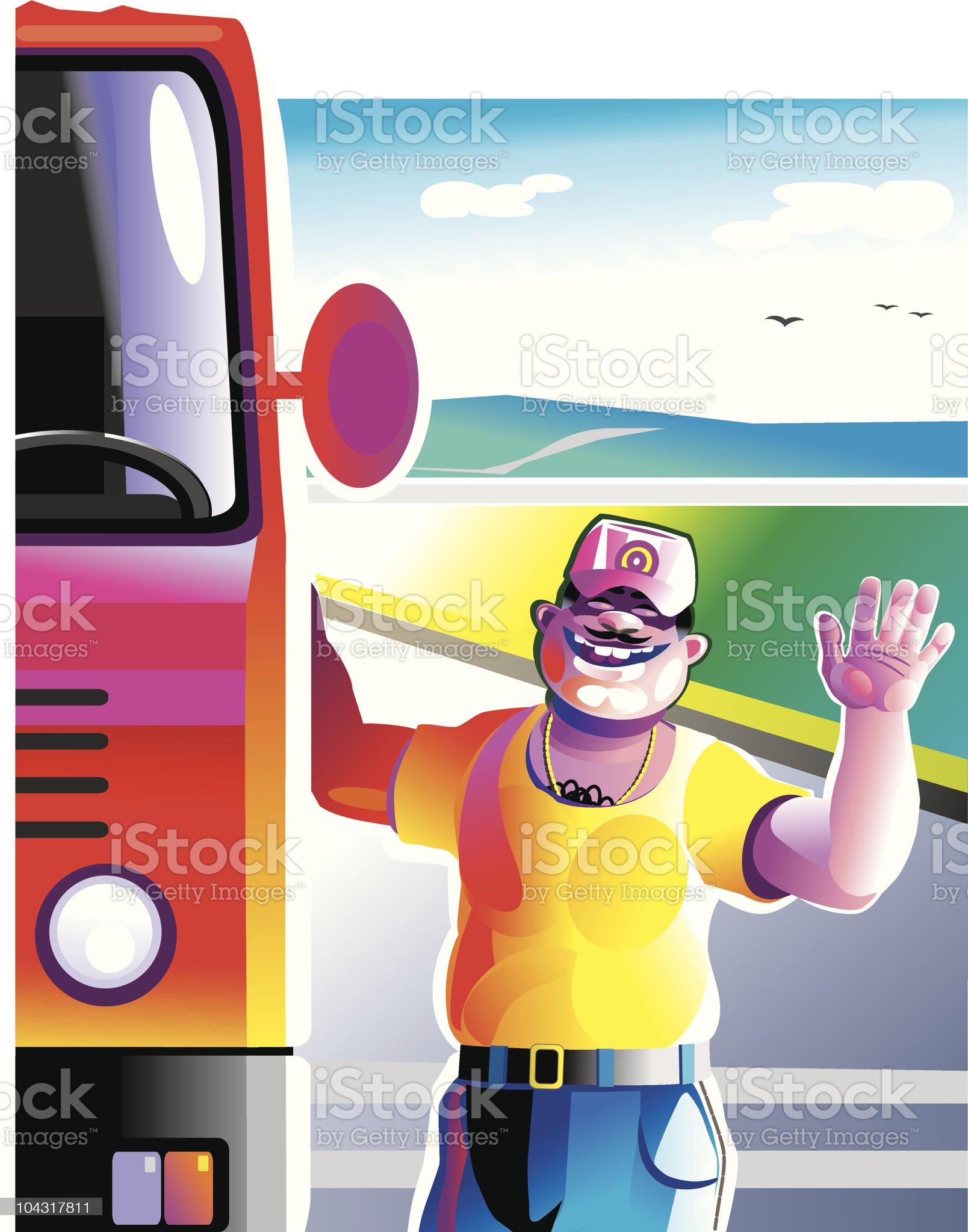 truck driver royalty-free stock vector art