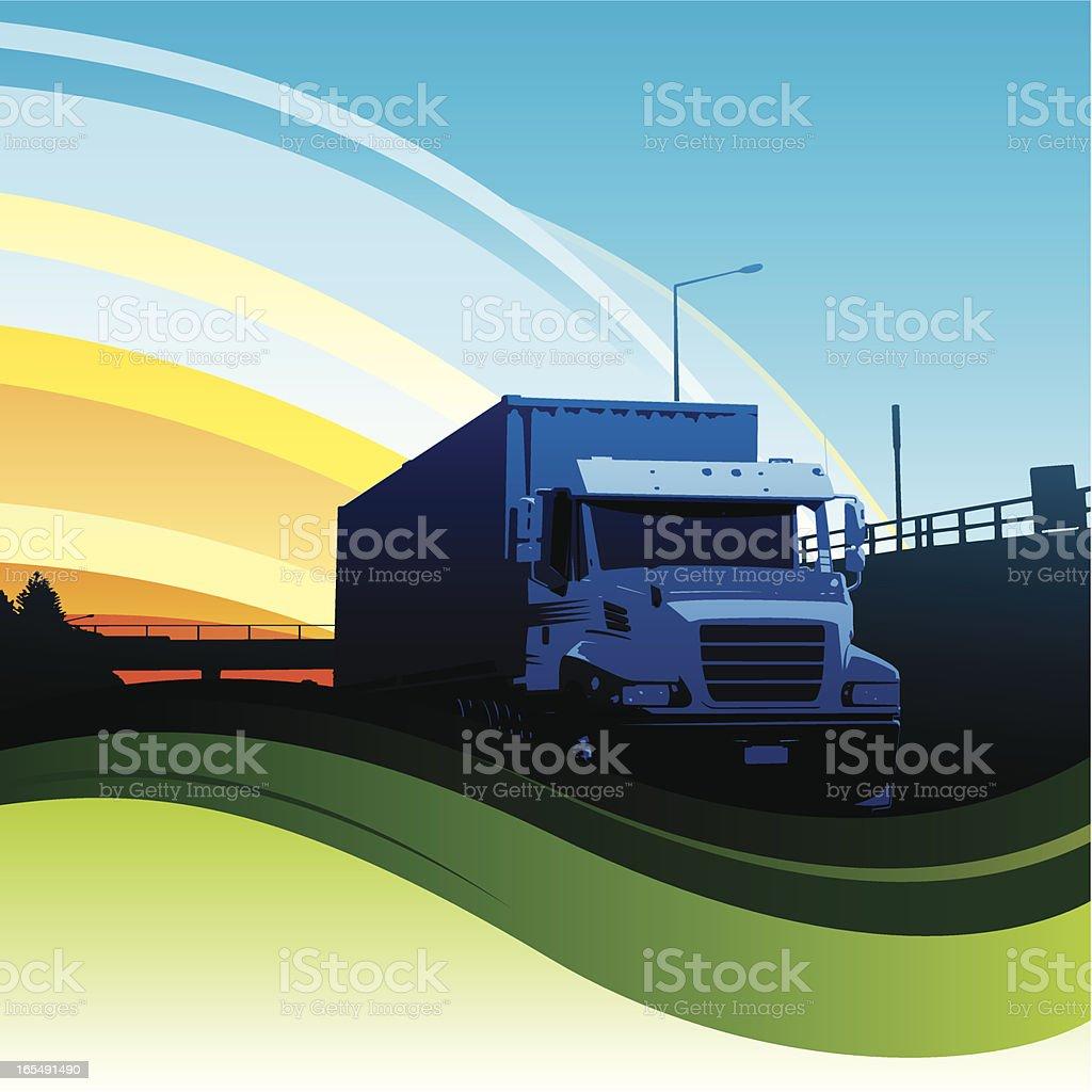 Truck flow vector art illustration