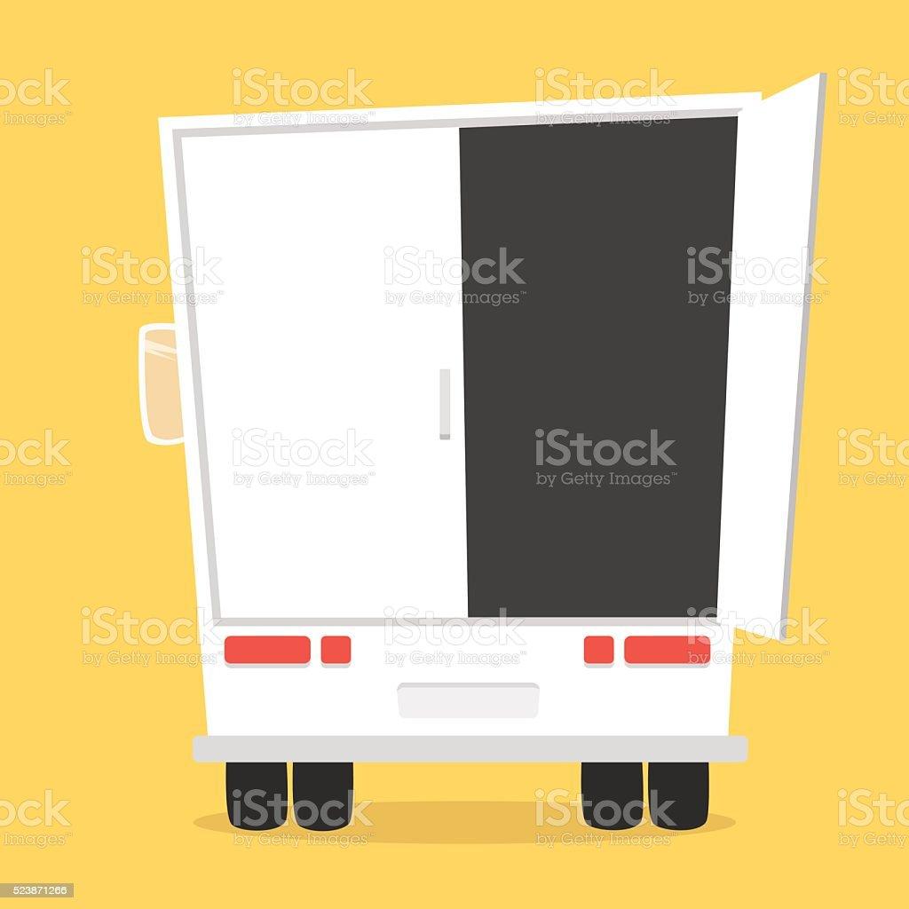 Truck for transportation cargo vector art illustration