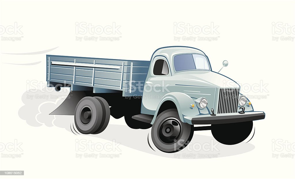 truck hurry royalty-free stock vector art