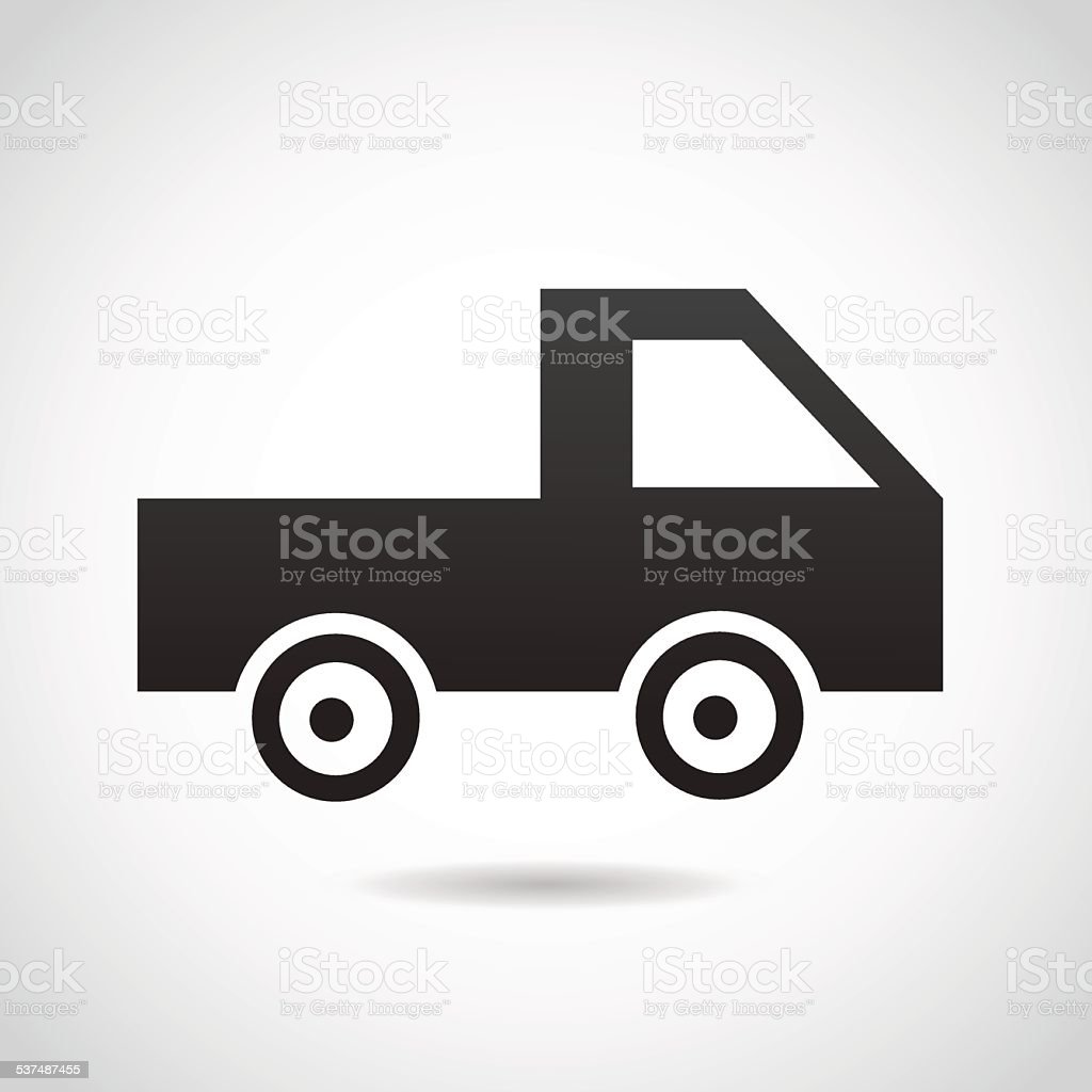 Truck icon isolated on white background. vector art illustration
