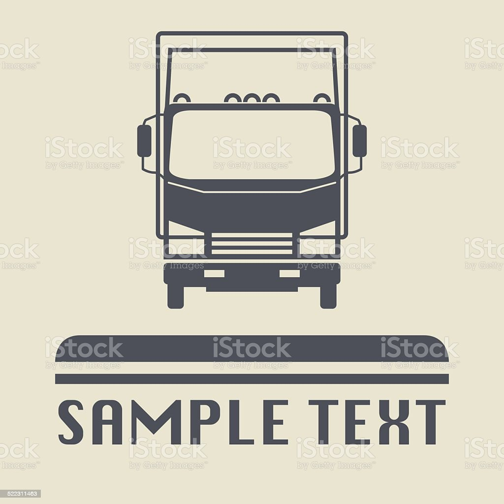 Truck icon or sign vector art illustration