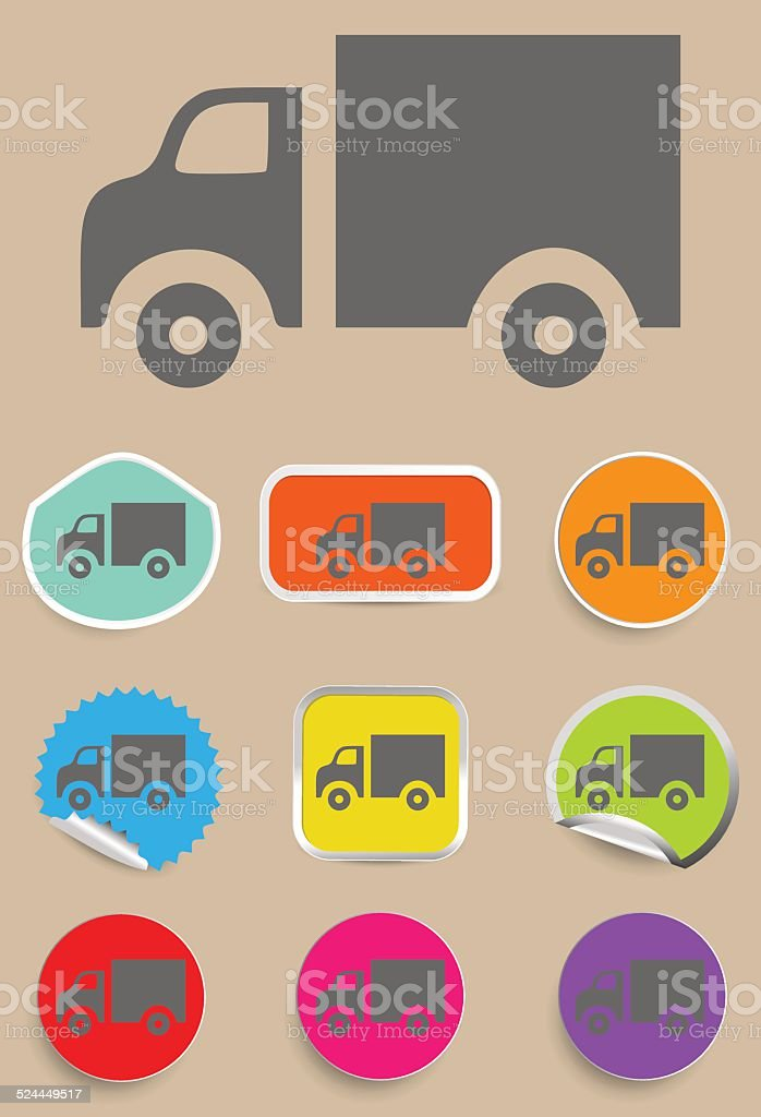 Truck Icon - Vector vector art illustration