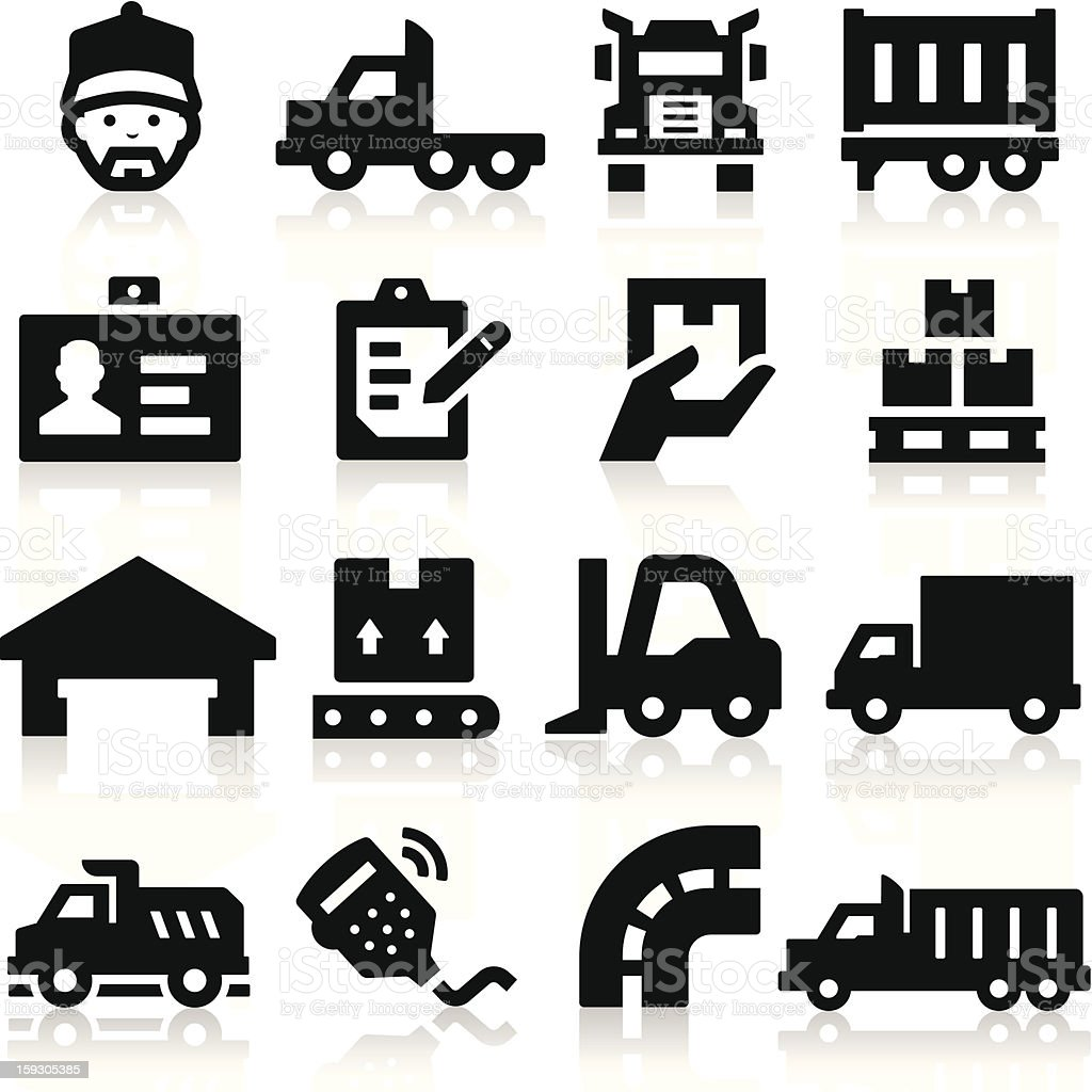 Truck icons royalty-free stock vector art
