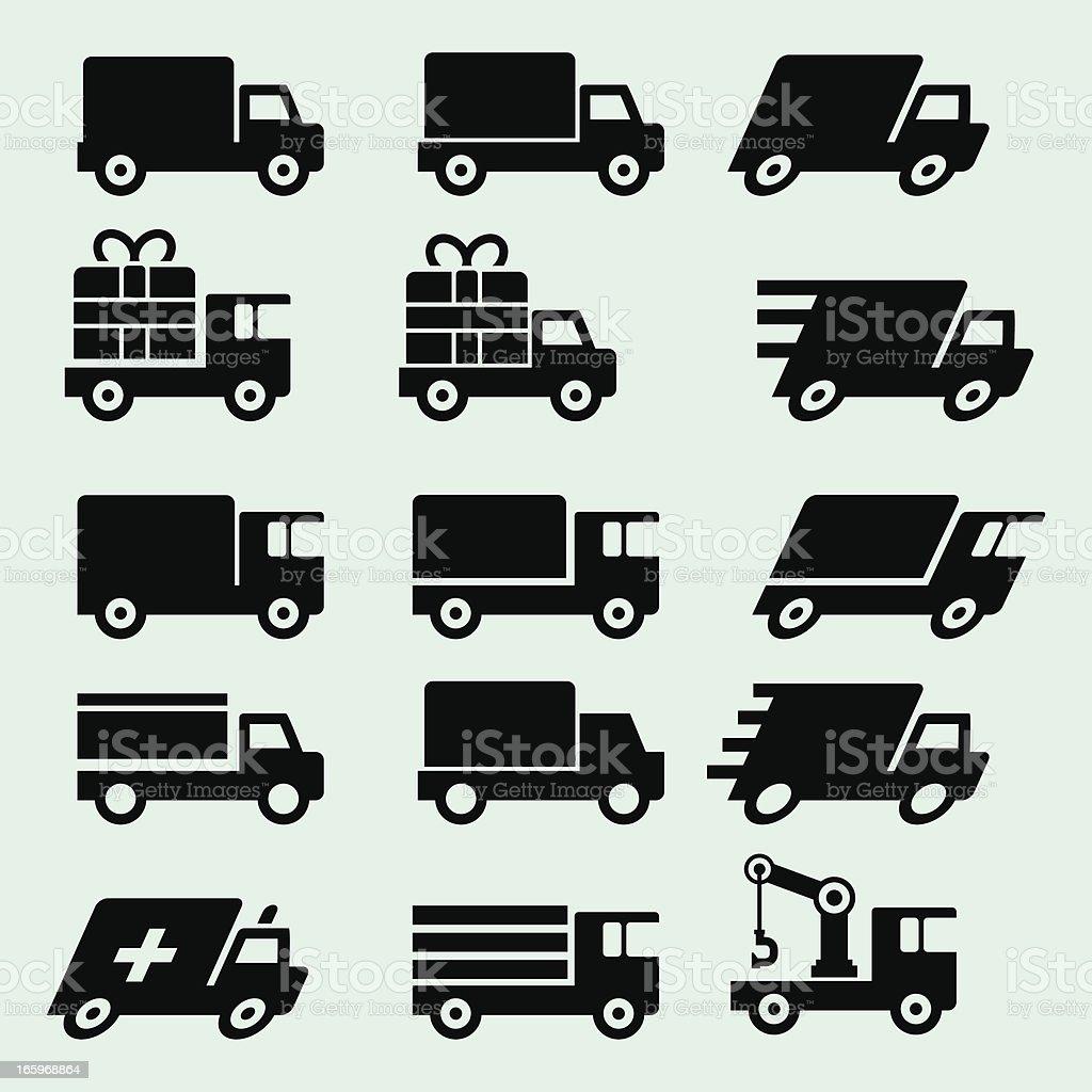 Truck icons vector art illustration