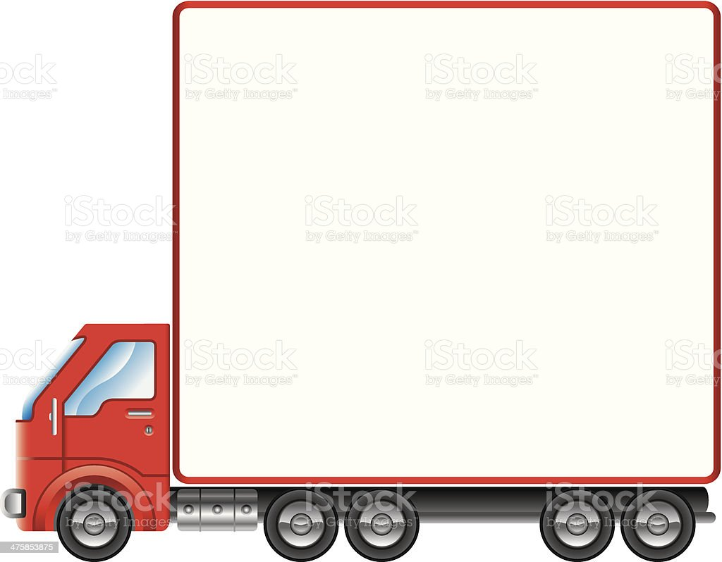 Truck Mortice C vector art illustration