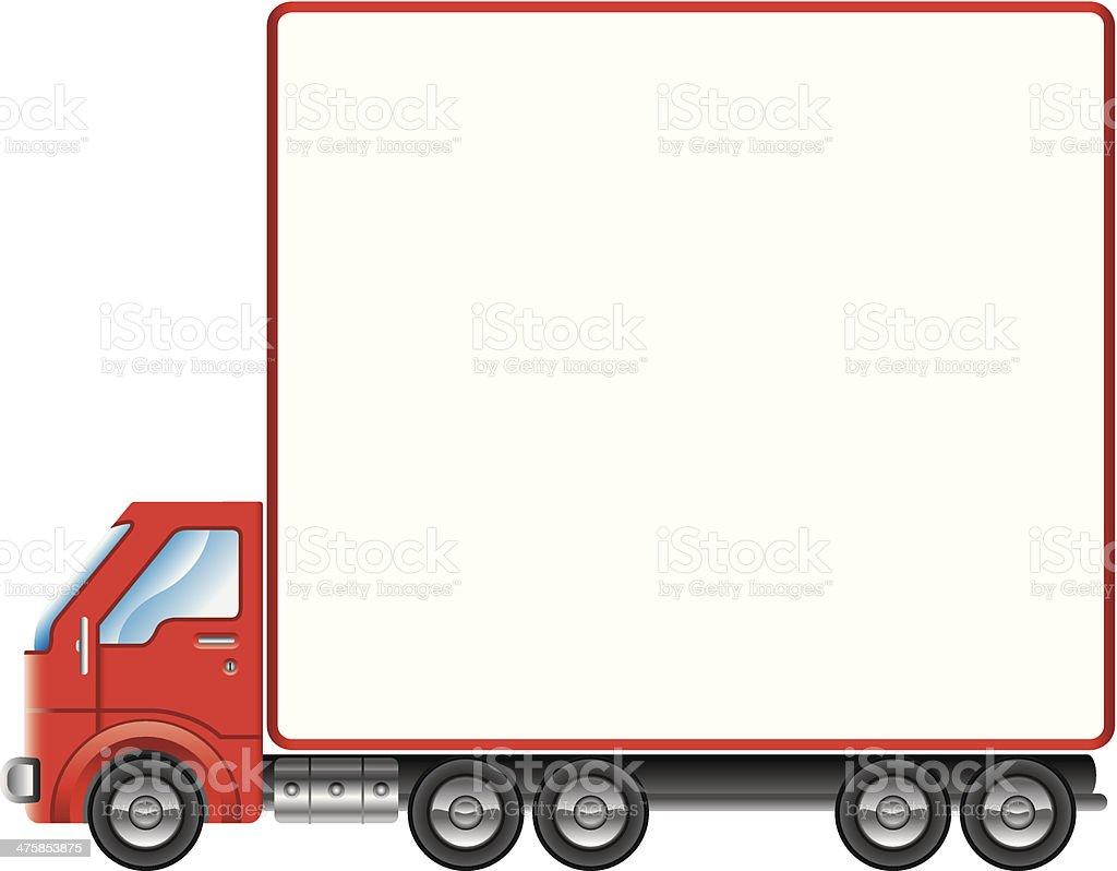 Truck Mortice C vector art illustration